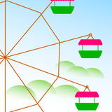 Carrousel en hemel Vector illustratie royalty-vrije stock foto's
