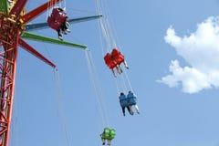 Carrousel en parc d'attractions Photo libre de droits