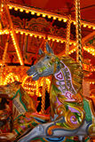 Carrousel Horse at fairground. A carrousel horse at a fairground Royalty Free Stock Photos