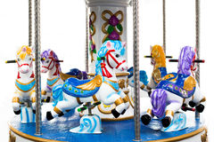 Carrousel. Isolated on a white background Royalty Free Stock Photos