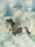 carrousel koń ilustracji