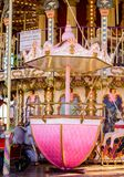 Carrousel at Le vieux bassin in Honfleur Normandy stock image