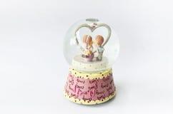 Carrousel met paard op de lichte achtergrond Royalty-vrije Stock Foto