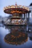 Carrousel met paarden Stock Foto's