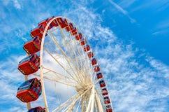 Carrousel met wolken en hemel Royalty-vrije Stock Fotografie