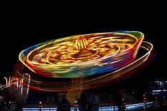 Carrousel in motie Stock Afbeelding