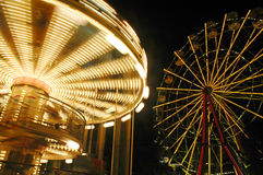 Carrousel on the night. Carousel on the night park Royalty Free Stock Photo