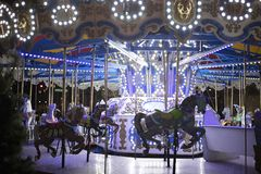 Carrousel at night royalty free stock photography