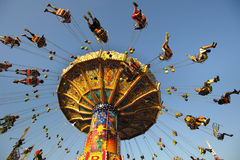 Carrousel in Oktoberfest in München Stock Foto's
