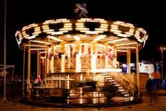 Carrousel op het Vierkant van Sophia ` s in het centrum van Kiev stock fotografie