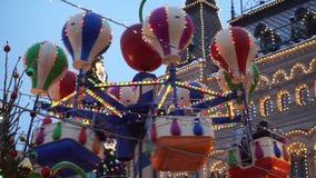 Carrousel op Rood vierkant in Moskou stock video