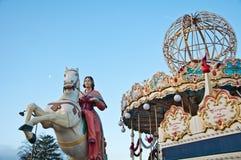 Carrousel in Parijs Stock Afbeelding