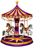 Carrousel przejażdżka ilustracja wektor