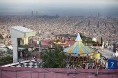 Carrousel at Tibidabo Amusement Park Stock Image