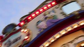 Carrousel tournant à la foire clips vidéos
