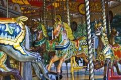 Carrousel victorien, Edimbourg Image stock