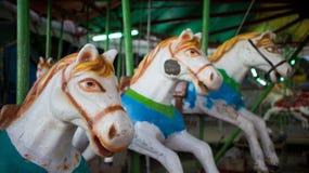 Carrouselpaarden Stock Afbeelding