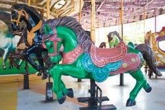 Carrouselpaarden bij het parkstad van Siam Royalty-vrije Stock Fotografie