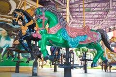 Carrouselpaarden bij het parkstad van Siam Royalty-vrije Stock Foto