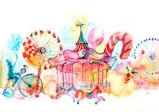 carrousels royalty-vrije illustratie
