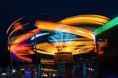 Carrousels la nuit Photos stock