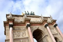 Carroussel arch in Paris Royalty Free Stock Photography