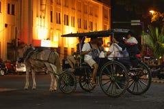 carrozza a cavalli antica di Jogjakarta Immagine Stock Libera da Diritti