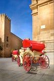 Carrozza a cavalli tradizionale in Spagna Fotografia Stock Libera da Diritti