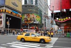 Carrozza di colore giallo della città di NY Fotografia Stock Libera da Diritti
