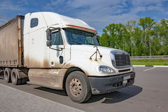 Carrozza di grande camion bianco fotografie stock