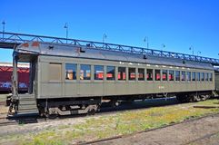 Carrozza ferroviaria di Lackawanna, Scranton, PA, U.S.A. immagini stock