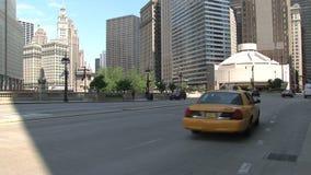 Carrozza gialla Chicago del centro, archivi video