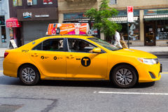 Carrozza gialla luminosa di New York Immagini Stock