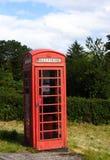 Carrozza rossa del telefono pubblico, Scozia fotografia stock