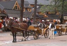 Carrozza in Zakopane Fotografia Stock