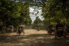 Carrozze al Myanmar Fotografia Stock