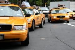 Carrozze di tassì di New York fotografie stock libere da diritti
