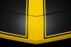 Carrozzeria nera dell'automobile Fotografie Stock Libere da Diritti
