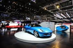 Carrozzeria Touring Superleggera Disco Volante Spyder. At the 86th Geneva International Motor Show in March 2016 Stock Photography