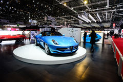 Carrozzeria Touring Superleggera Disco Volante Spyder. At the 86th Geneva International Motor Show in March 2016 Royalty Free Stock Photos