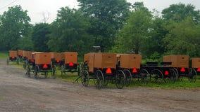 Carrozzini dei Amish fotografie stock libere da diritti