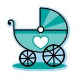 Carrozzino blu del trasporto del neonato Immagine Stock Libera da Diritti