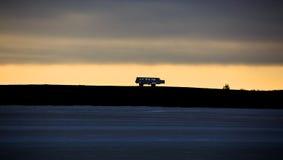 Carrozzino della tundra Fotografie Stock