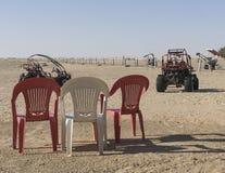 Carrozzino in deserto Fotografia Stock