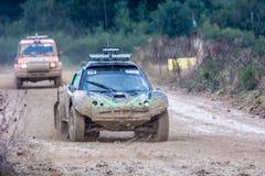 Carrozzino e 4x4 a 24 ore di TT della Francia Fotografia Stock