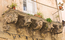 Carrozzo Palace. Lecce. Puglia. Italy. Royalty Free Stock Photo