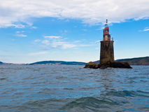 Carrumeiro lighthouse on the inside stuary. Carrumeiro called small lighthouse on the inside of the estuary and Corcubi�n Cee Royalty Free Stock Photography