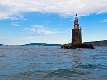 carrumeiro wśrodku latarni morskiej stuary Fotografia Royalty Free