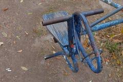 Carrusel azul del hourse Foto de archivo libre de regalías
