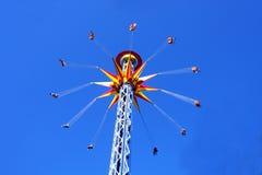 Carrusel colorido en el cielo Fotos de archivo